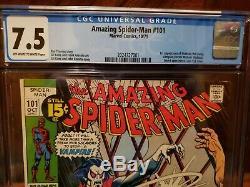 Amazing Spiderman 101 CGC 7.5 1st appearance of Morbius John Romita