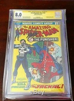 Amazing Spiderman 129 1st Punisher cgc 8 Signed Stan Lee NO RESERVE Marvel comic