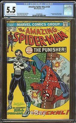Amazing Spiderman 129 CGC 5.5 1st Punisher
