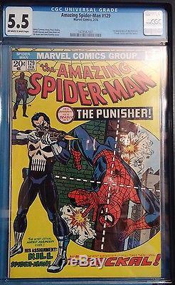Amazing Spiderman #129 CGC 5.5 FN-, 1st PUNISHER, Romita CVR