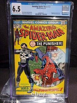 Amazing Spiderman #129 CGC 6.5 OW-WT 1st app Punisher Grail Key Marvel 1974
