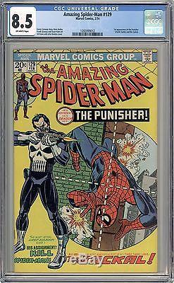 Amazing Spiderman #129 CGC 8.5 -1st Appearance of the Punisher- Netflix Key- Hot