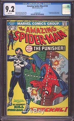 Amazing Spiderman # 129 CGC-GRADED 9.2 NEAR MINT- FIRST Punisher Appearance