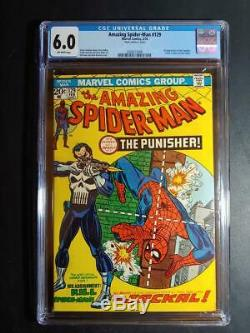 Amazing Spiderman # 129 Cgc 6.0 Fn Mark Jewelers In 1st App Punisher & Jackal