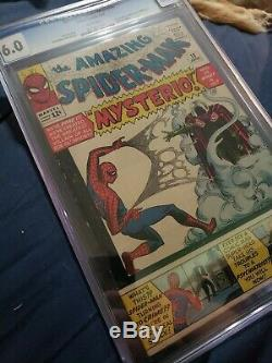 Amazing Spiderman #13 CGC 6.0 White pages 1st Mysterio Gorgeous Book