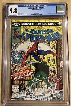 Amazing Spiderman #212 CGC 9.8 White Pages 1st App Hydro-Man