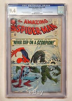 Amazing Spiderman #29 CGC 9.4 (NM) OWithWP 2nd App. Scorpion -Stan Lee Ditko Art