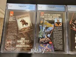 Amazing Spiderman 298, 299, 300 Secret Wars 8 CGC