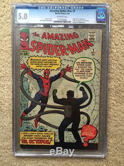 Amazing Spiderman #3 CGC 5.0 VG/FN