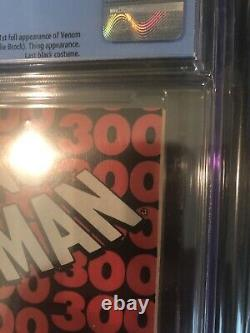 Amazing Spiderman #300 CGC 9.0 White Pages Newsstand 1st Venom! Todd McFarlane