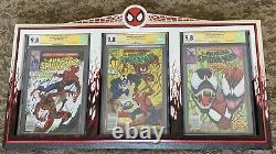 Amazing Spiderman 361, 362, 363 ALL CGC 9.8 SS Newstand Stan Lee Mark Bagley