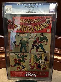 Amazing Spiderman # 4 Cgc 4.0 Vg 1st App Of Sandman & Betty Brant (id 3044)