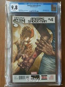 Amazing Spiderman #4 Original Sin CGC 9.8 Cindy Moon becomes Silk