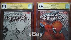 Amazing Spiderman 700 Sketch Cgc 9.8 Ss 9.6 Lee X 3 Quesada Variant Ultra Rare