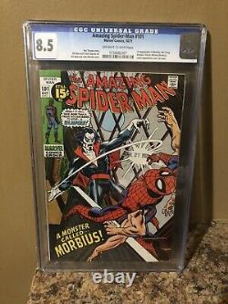 Amazing spiderman 101 cgc 8.5 First App Morbius Spider-man Marvel Comics Hot Key