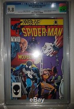 Amazing spiderman 300 cgc 9.6 + venom suit lot five books in total