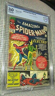 CBCS 3.0 Amazing Spider-Man # 9. Origin & 1st Appearance of Electro 1964 Not CGC