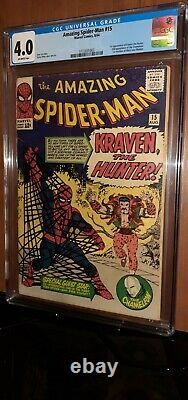 CGC 4.0 Amazing Spider-Man # 15. First 1st Appearance of Kraven the Hunter. MCU