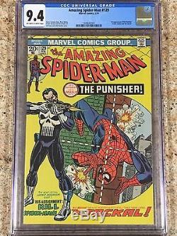 CGC 9.4 Amazing Spiderman 129 Marvel 1st Punisher 1974 Hot Book