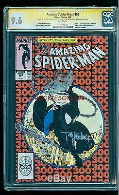 Cgc 9.6 Amazing Spider-man 300 1st Venom Signed By Stan Lee Mcfarlane Michelinie