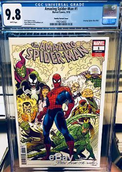 CGC 9.8 AMAZING SPIDER-MAN #1 (2018) 1100 JOHN ROMITA SR. Variant Cover