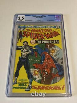CGC Amazing Spider-Man #129 Stan Lee John Romita 3.5 1st Punisher White Pages