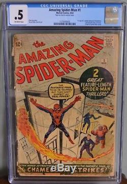 Cgc 0.5 Amazing Spider-man #1 (marvel, 1963) Origin Of Spider-man Retold! Key