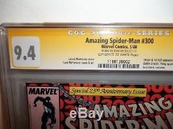 Cgc 9.4 Ss (nm) Amazing Spider-man #300 1988 1st Venom App Signed By Stan Lee