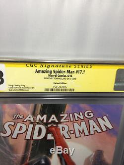 Cgc Ss 9.8 Amazing Spider-man #17.1 Dellotto Variant Signed By Tom Holland