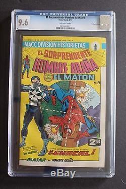 EL Hombre Arana #9 Mexican Amazing Spider-Man #129 1st PUNISHER 1974 CGC NM+ 9.6