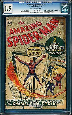 L@@K The Amazing Spider-Man #1 CGC 1.5 Super book + Fantastic Four! @@@@@ @@@@