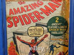 MARVEL AMAZING SPIDER-MAN #1 CGC 0.5 1ST APPEARANCE OF CHAMELEON OWithW 1963.5