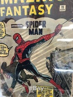 Marvel Amazing Fantasy #15 1st Appearance Spiderman Key CBCS NOT CGC 1.0 24