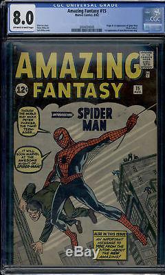 Marvel Amazing Fantasy #15 OW-W Spiderman Shasta Lake FIND! CGC 8.0