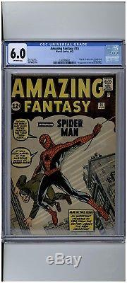 Marvel Amazing Fantasy #15 Spider Man CGC 6.0 Fresh to Market Blue Label