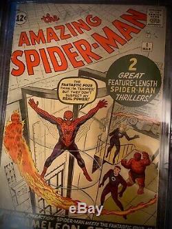 Marvel Amazing Spiderman #1 Cgc 3.5 1963 Beautiful Key Holy Grail Issue