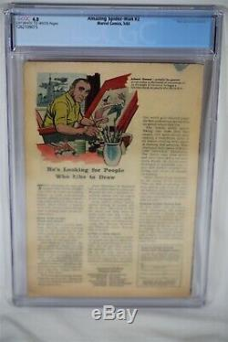 Marvel Comic ASM Amazing Spider Man #2 CGC 4.0