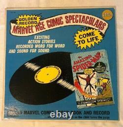 Marvel The Amazing Spider-Man #1 Reprint 1966 CGC 8.0 & Golden Records Album