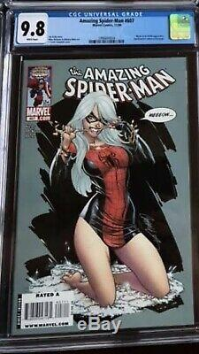 Marvel The Amazing Spider-Man #607 CGC 9.8 J Scott Campbell cover