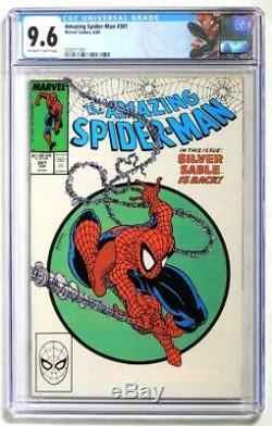 P4009. AMAZING SPIDER-MAN #301 Marvel Comics CGC 9.6 NM+ (1988) MCFARLANE Cover