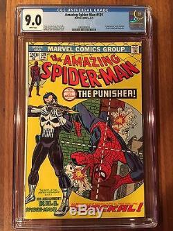 Rare 1974 Bronze Age Amazing Spider-man #129 Cgc 9.0 Key 1st Punisher White Pgs