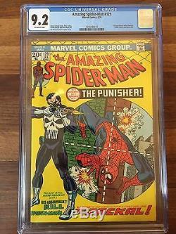 Rare 1974 Bronze Age Amazing Spider-man #129 Cgc 9.2 Universal Key 1st Punisher