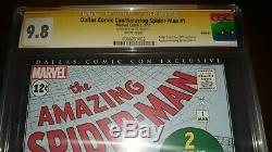 Signed Amazing Spider-Man 1 CGC 9.8 SS by Stan Lee Dallas Comic Con (2011)