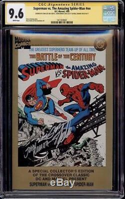 Superman Vs The Amazing Spider-Man #nn CGC 9.6 3 x SS Stan Lee Romita Neal Adams