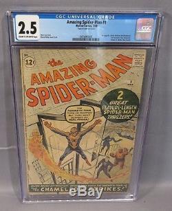 THE AMAZING SPIDER-MAN #1 (1st Jameson & Chameleon) CGC 2.5 Marvel Comcs 1963