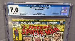 THE AMAZING SPIDER-MAN #121 (Death of Gwen Stacy) CGC 7.0 Marvel Comics 1973