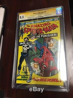 THE AMAZING SPIDER-MAN #129 CGC 8.5 SS STAN LEE & John Romita 1ST APP PUNISHER