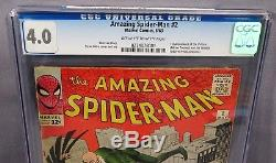 THE AMAZING SPIDER-MAN #2 (Vulture & Tinkerer 1st app) CGC 4.0 Marvel Comic 1963