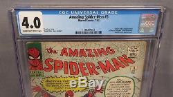 THE AMAZING SPIDER-MAN #3 (Doctor Octopus 1st app.) CGC 4.0 Marvel Comics 1963