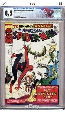 THE AMAZING SPIDER-MAN Annual #1 (Sinister Six 1st app) CGC 8.5 WHITE PAGES